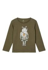 Name It T-shirt met neushoorn - LAATSTE MAAT 92