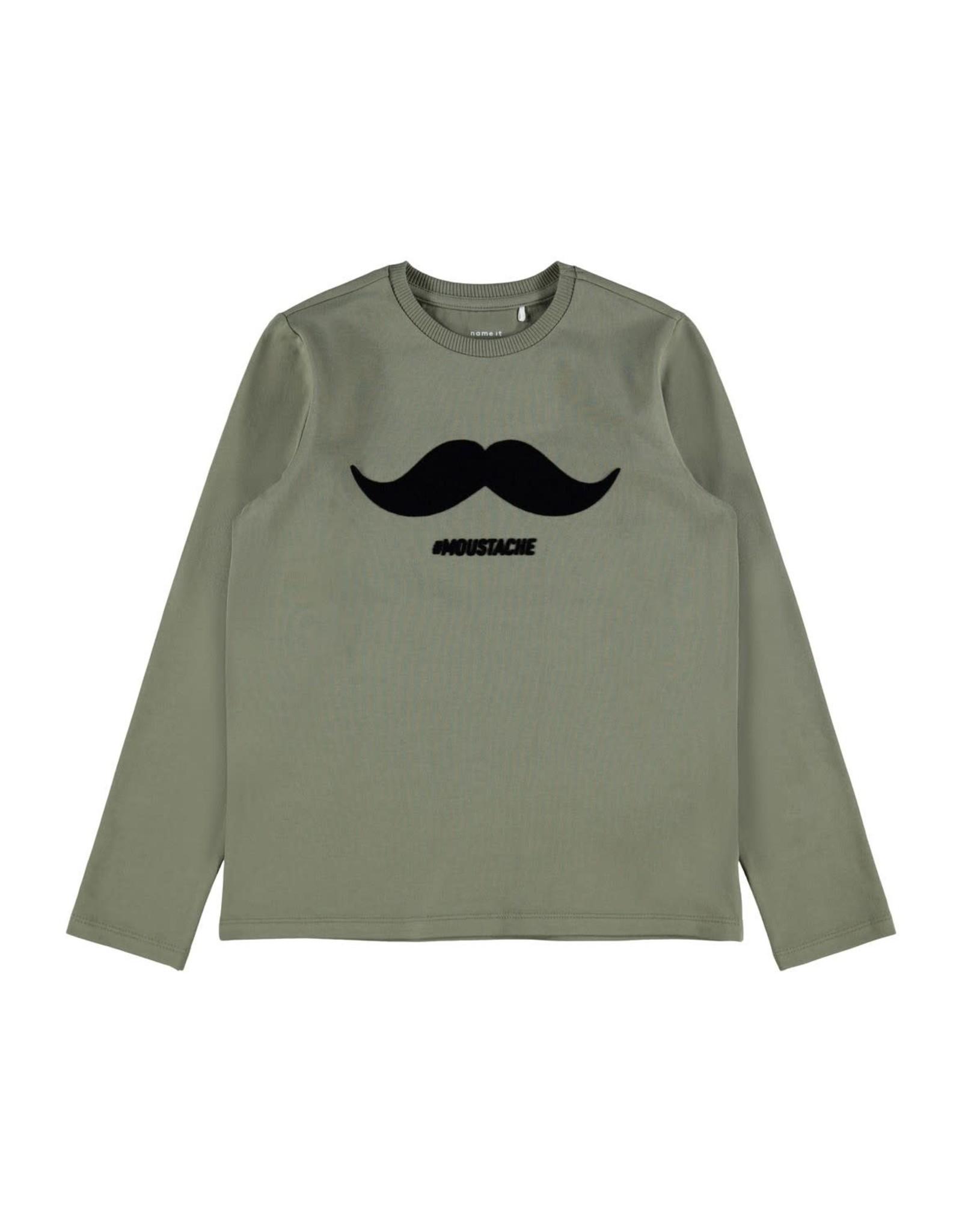 Name It Groene t-shirt met een zachte snor