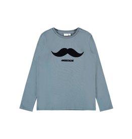 Name It Blauwe t-shirt met een zachte snor