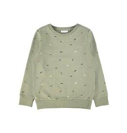 Name It Groene sweater trui met snorren print