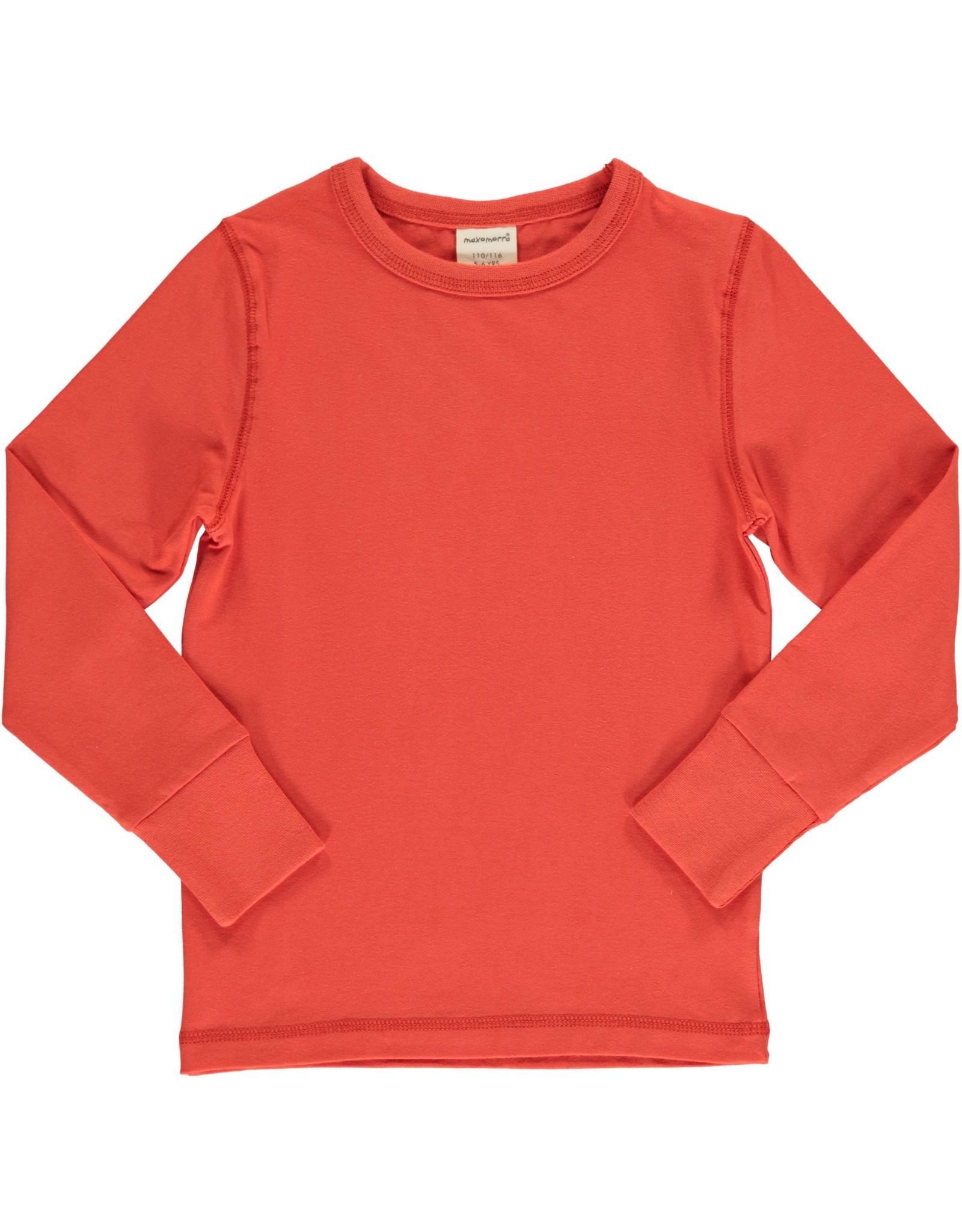 Maxomorra ROWAN effen gekleurde t-shirt - LAATSTE MAAT 122/128
