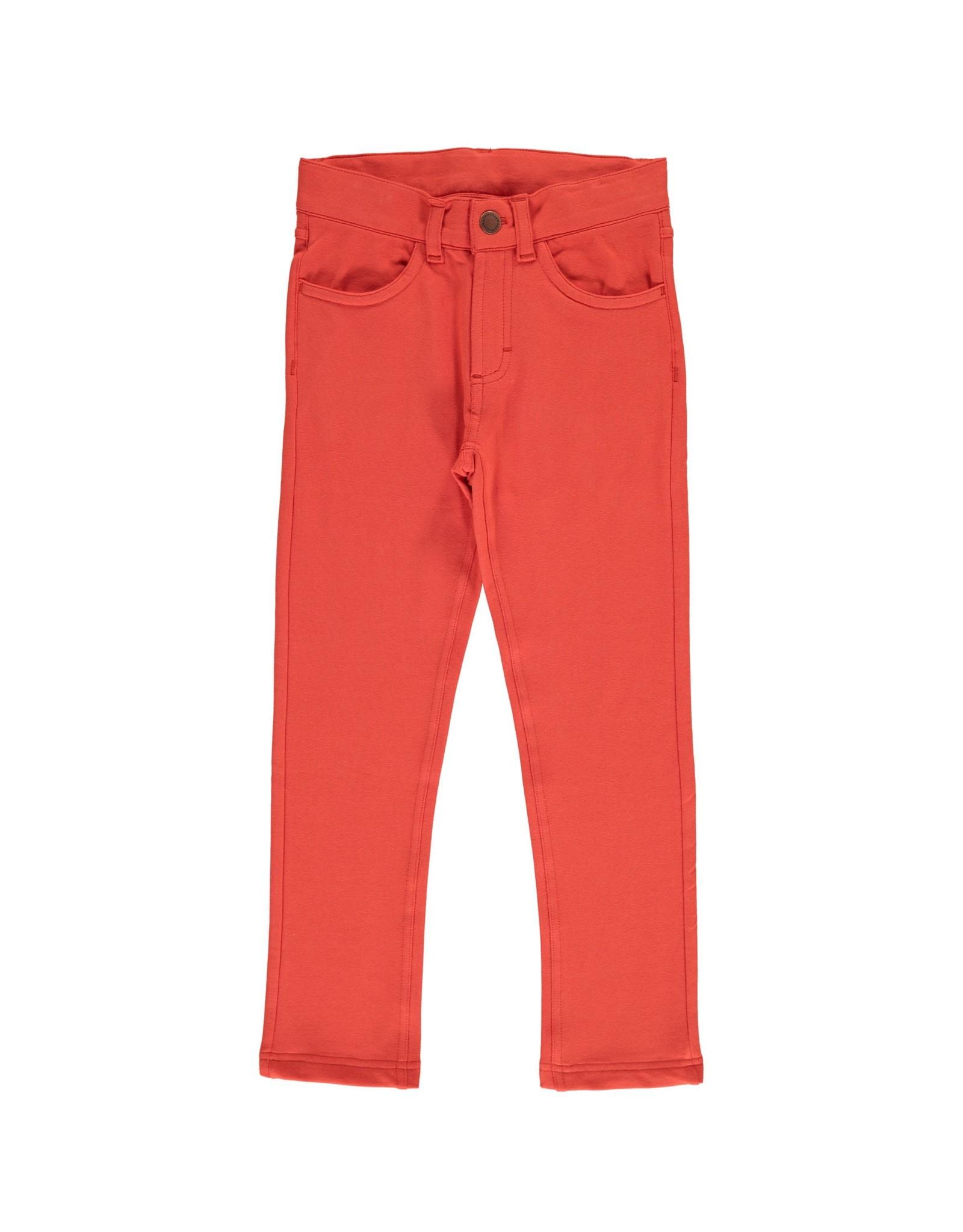 Maxomorra Effen rowan oranje rode super zachte unisex broek
