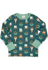 Maxomorra T-shirt met vijver dieren - LAATSTE MAAT 122/128