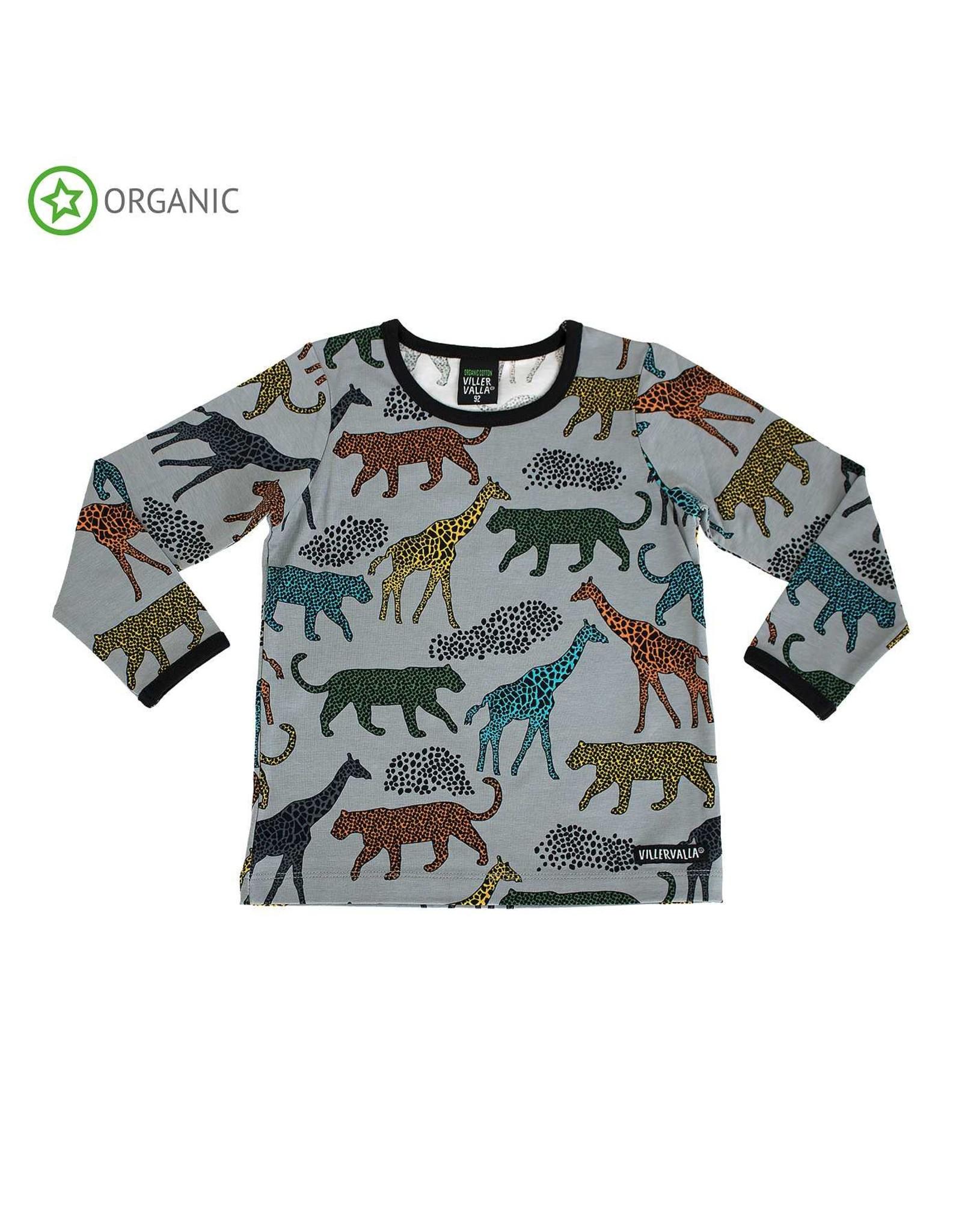 Villervalla T-shirt met wilde dieren - LAATSTE MAAT 146