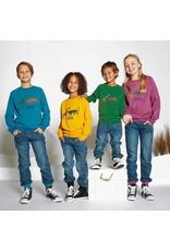 Villervalla Lichte sweater trui met wilde dieren - LAATSTE MAAT 146