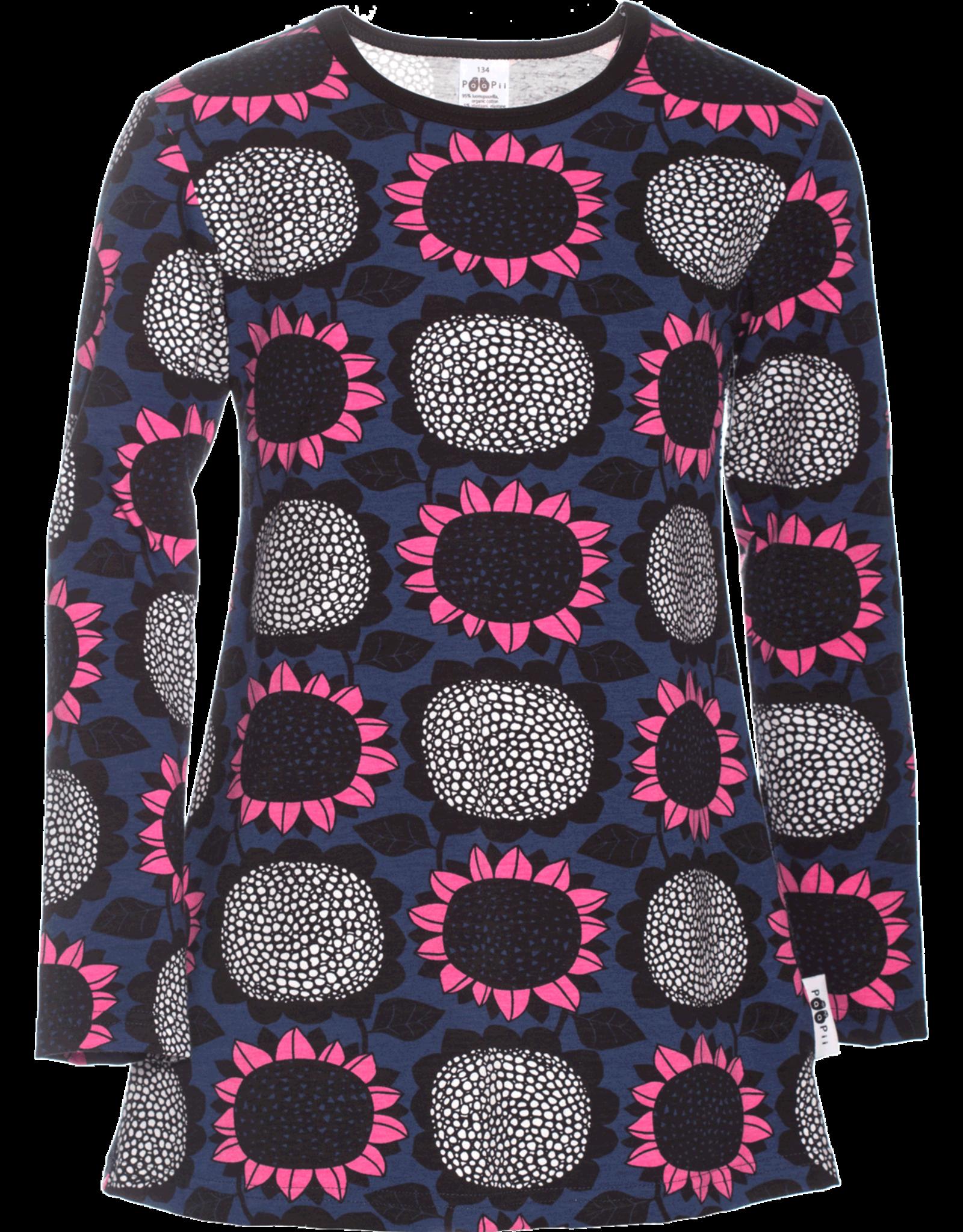 Tuniek met zonnebloemen print