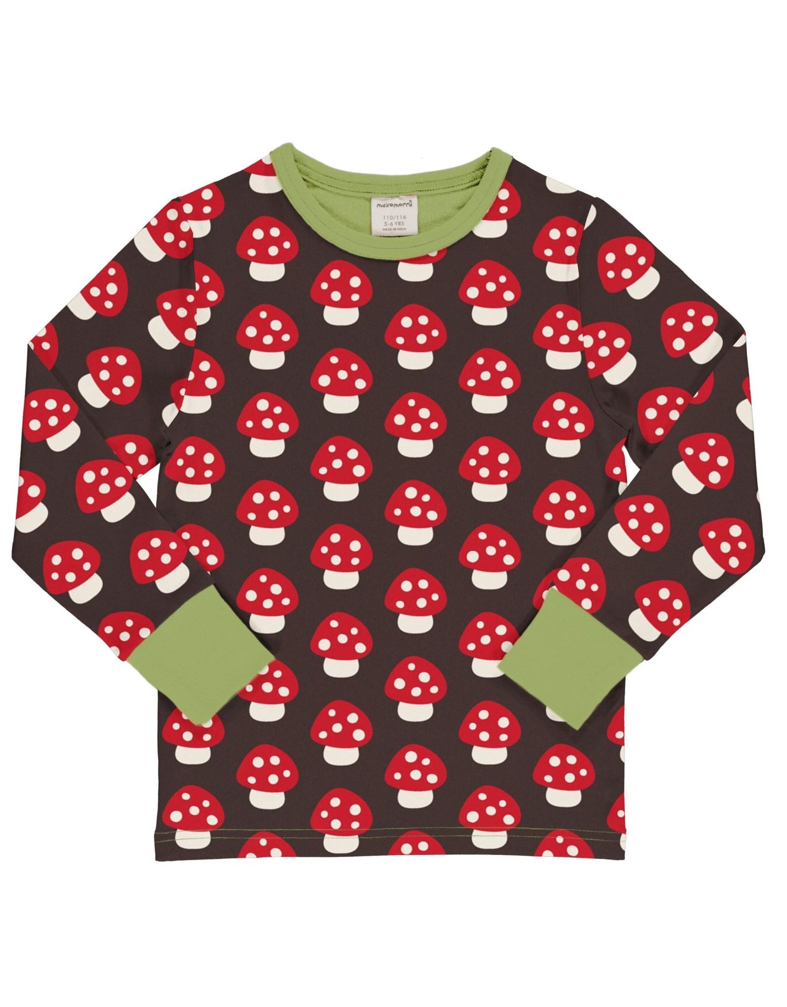 Maxomorra T-shirt met paddenstoelen print