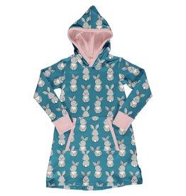 Maxomorra Hoodie kleedje met konijnen