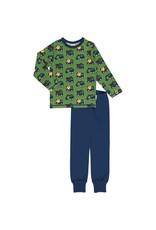 Maxomorra Pyjama met bouwvoertuigen