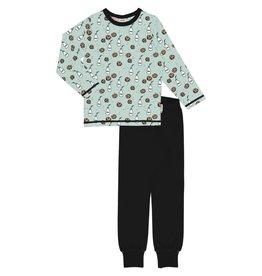 """Meyadey Pyjama met """"fika"""" print (melk en koekjes)"""
