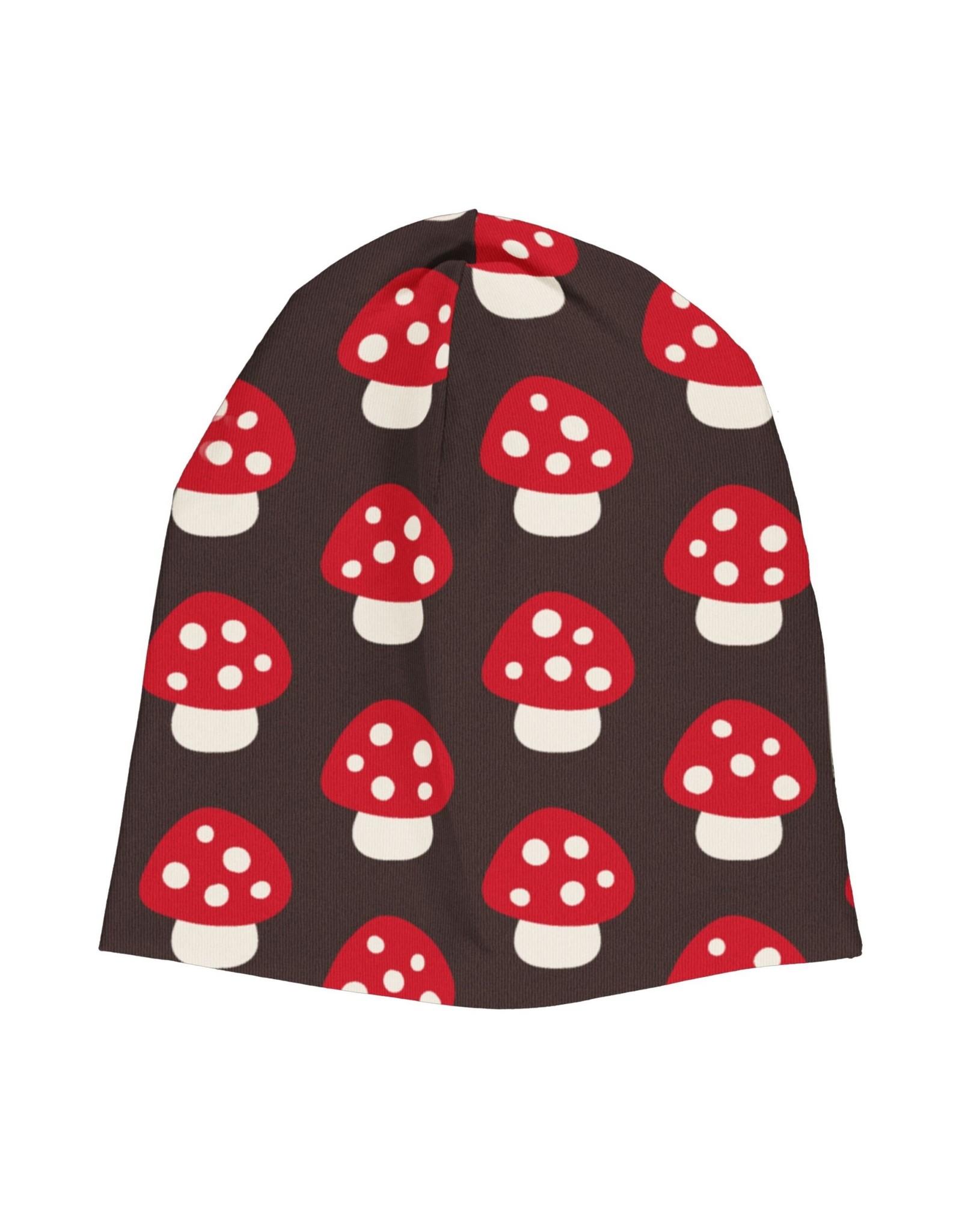 Maxomorra Muts (binnenkant velours) met paddenstoelen print