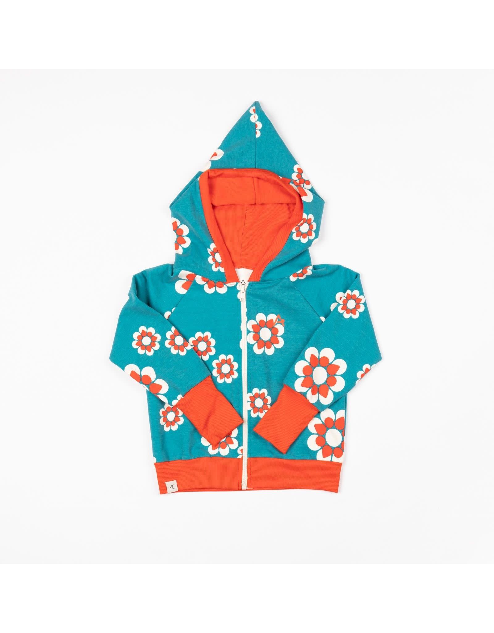 ALBA of Denmark Retro hoodie met grote bloemen