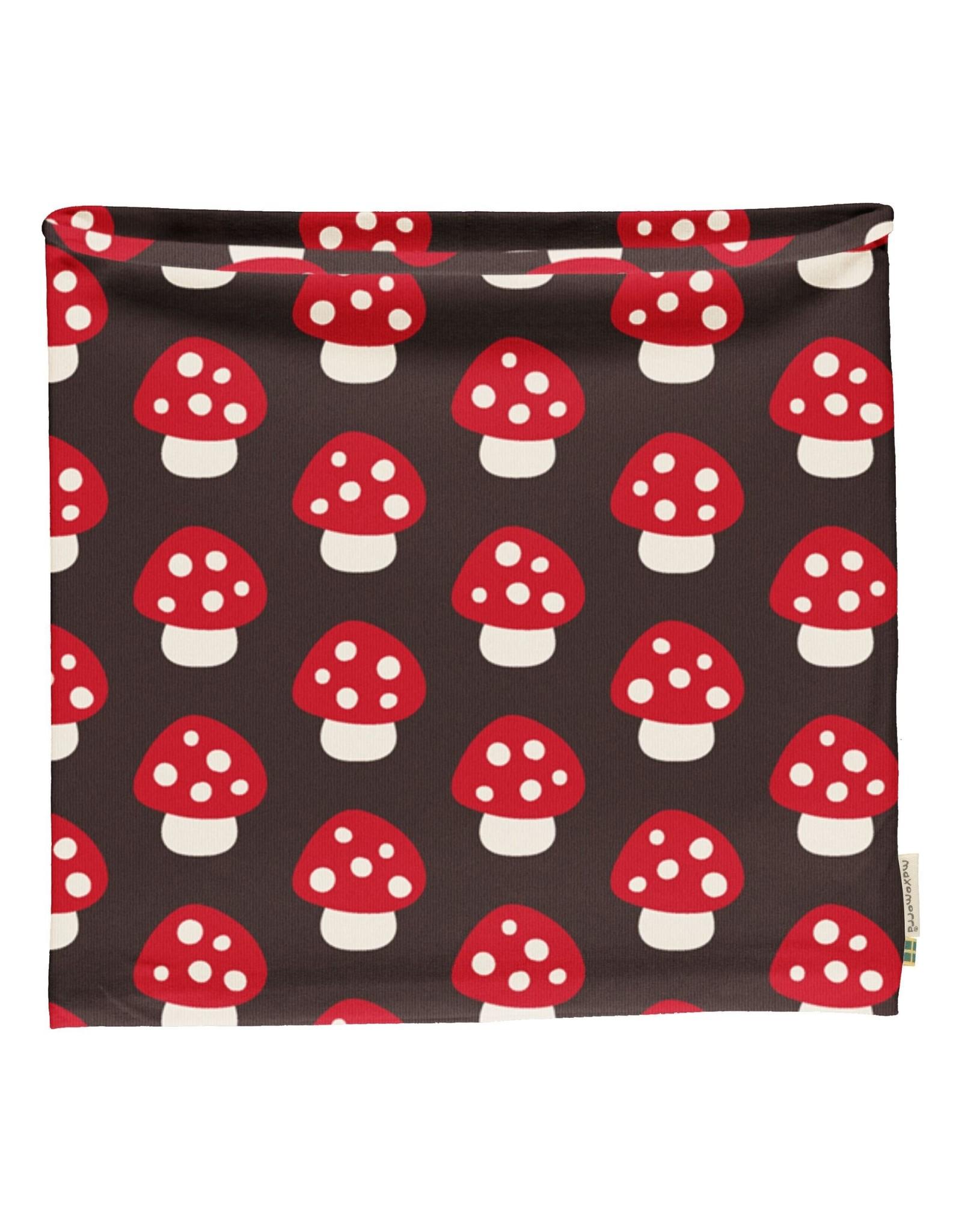 Maxomorra Buff sjaal (velours binnenkant) met paddenstoelen (MAAT 98/140)