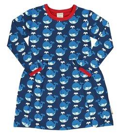 Maxomorra Zwier kleedje met walvissen