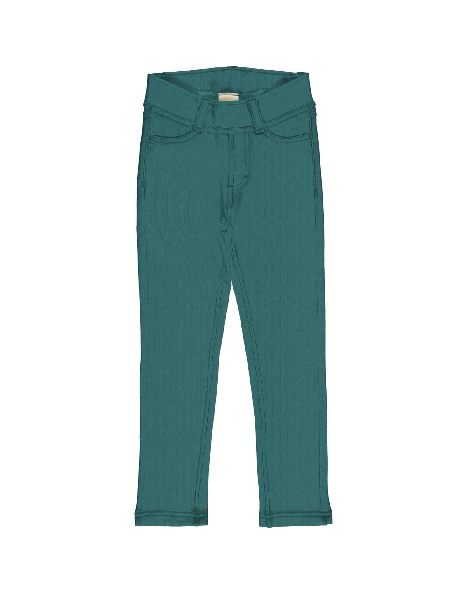 Maxomorra Heel zachte  tregging broek in groenblauw