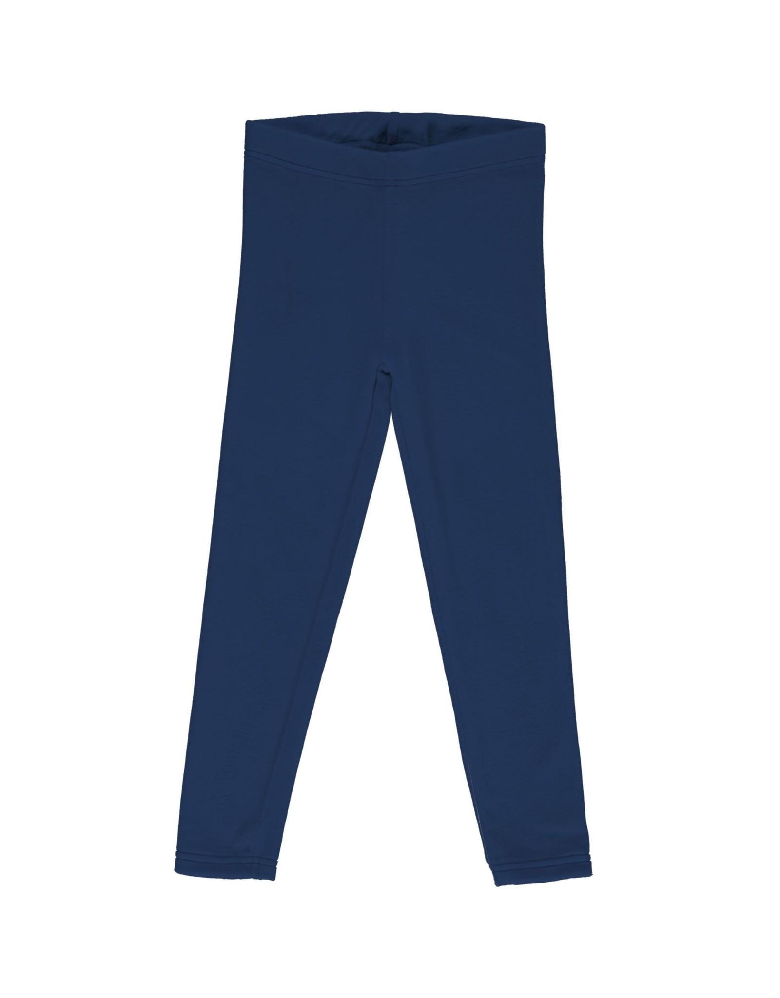 Maxomorra Leggings uit velours donkerblauw