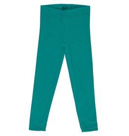 Maxomorra Leggings uit velours groenblauw