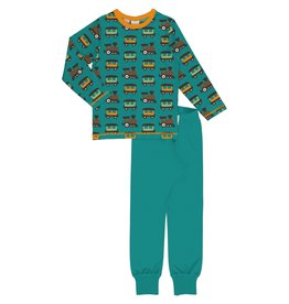 Maxomorra Pyjama met treinen print
