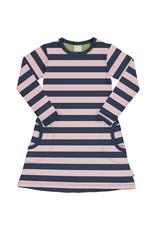 Maxomorra Kleedje met roze/blauwe strepen