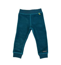 Villervalla Blauwe zachte velours jogging broek