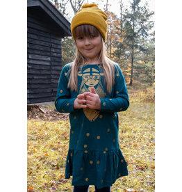 Danefae Blauwgroen kleedje met viking Freja