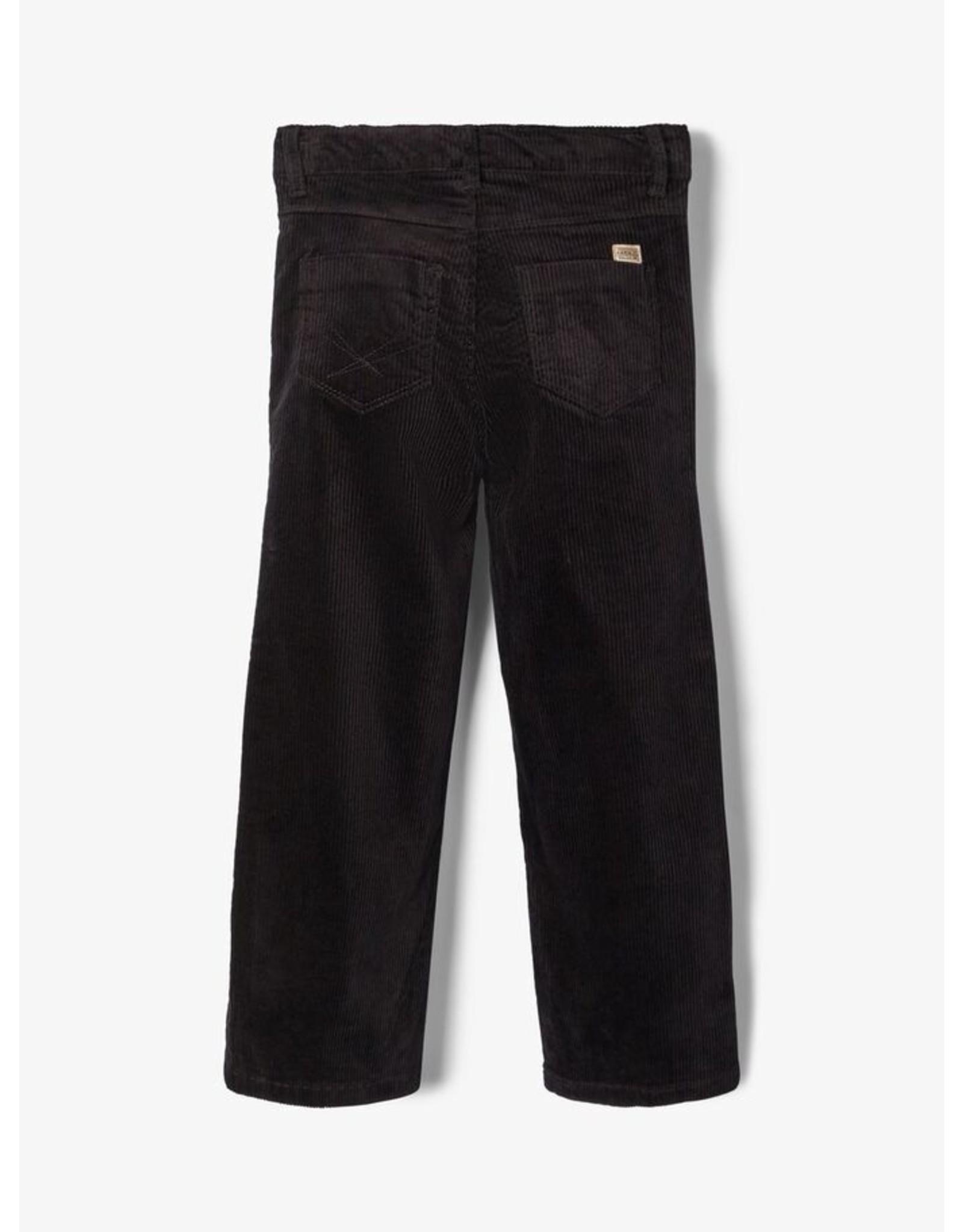Name It Zwarte corduroy 7/8 brede broek