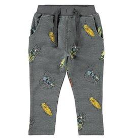 Name It Grijze jogging broek met insekten print