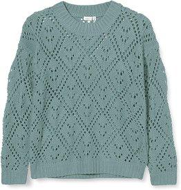Name It Groenblauwe gehaakte trui - kort model - LAATSTE MAAT 116