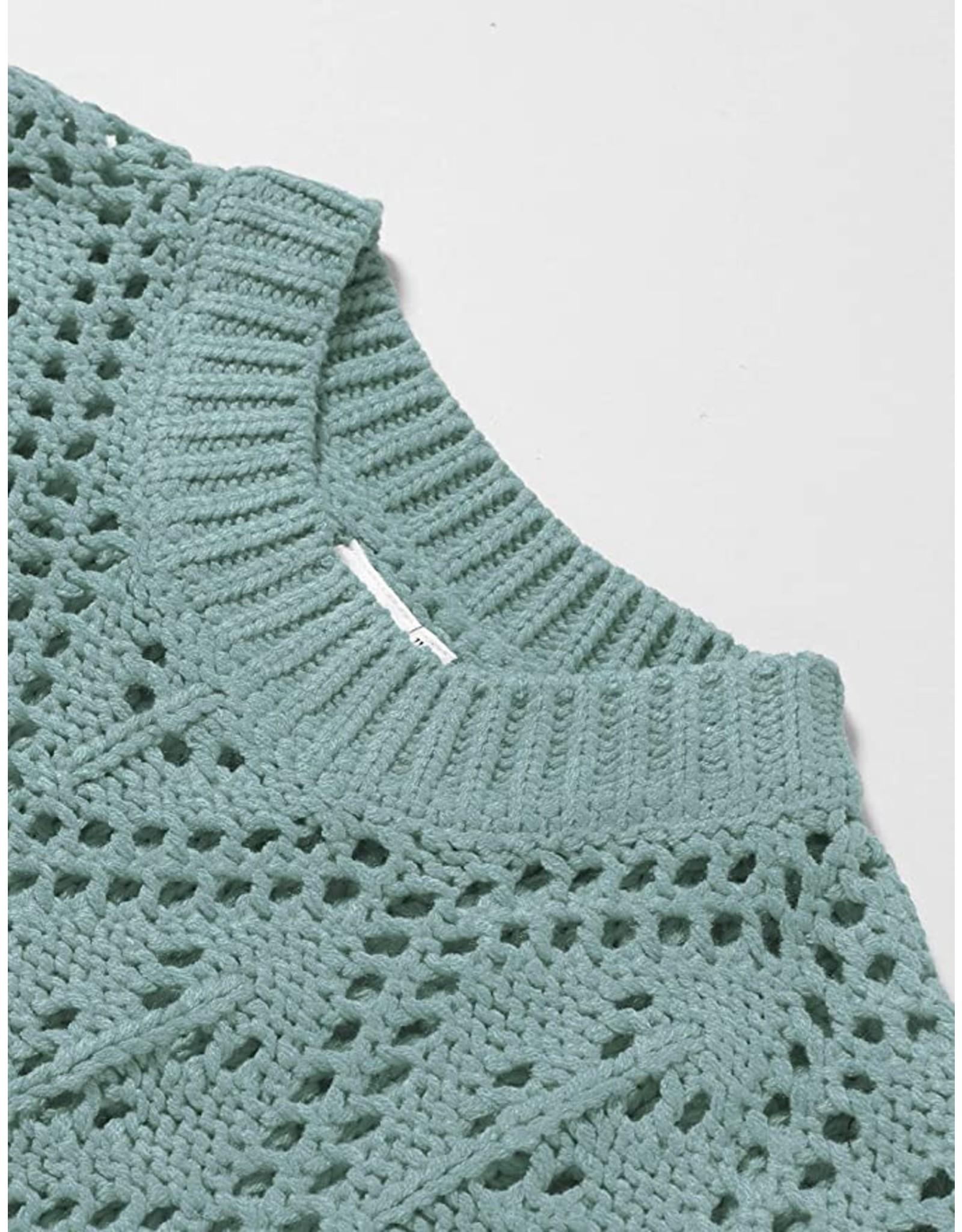 Name It Groenblauwe gehaakte trui - kort model
