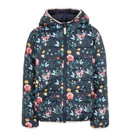 Name It Dubbelzijdige winterjas donkerblauw/bloemen