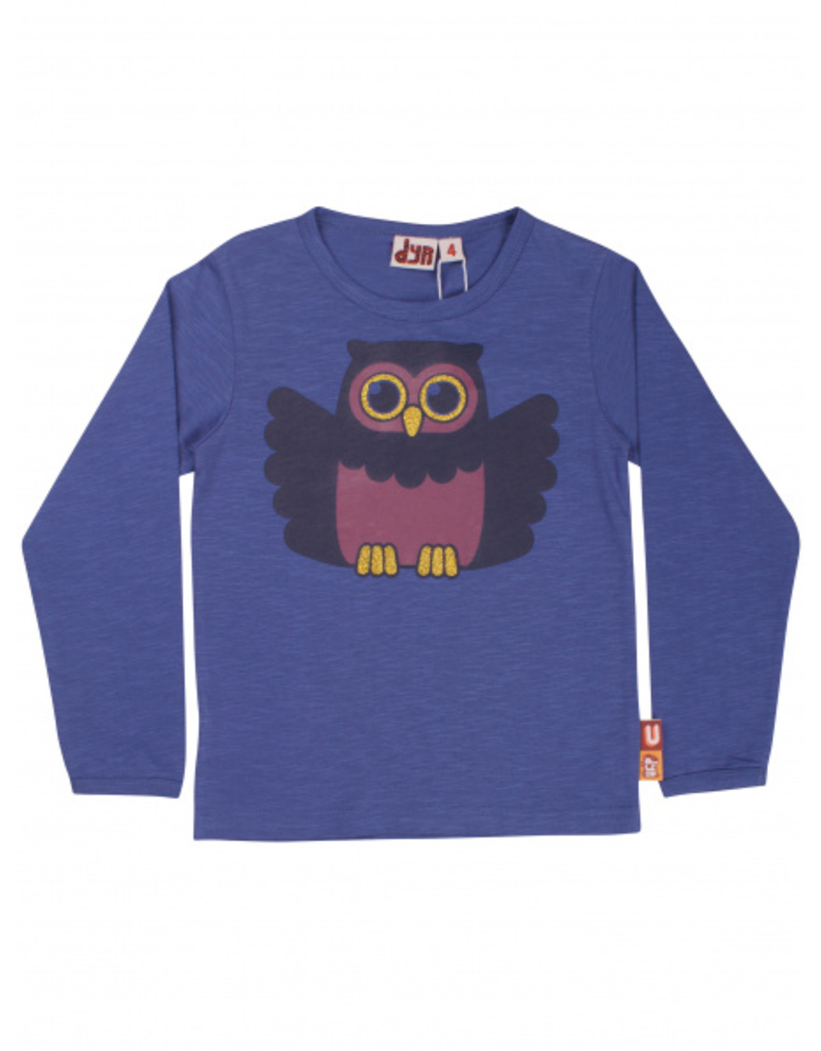 Dyr Paarse t-shirt met uil