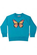 Dyr Blauwe trui met glitter vlinder