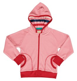 Maxomorra Roze zachte velours hoodie vest