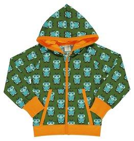 Maxomorra Hoodie vest met robot print - LAATSTE MAAT 98/104