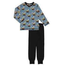 Meyadey Pyjama met print van graafmachines