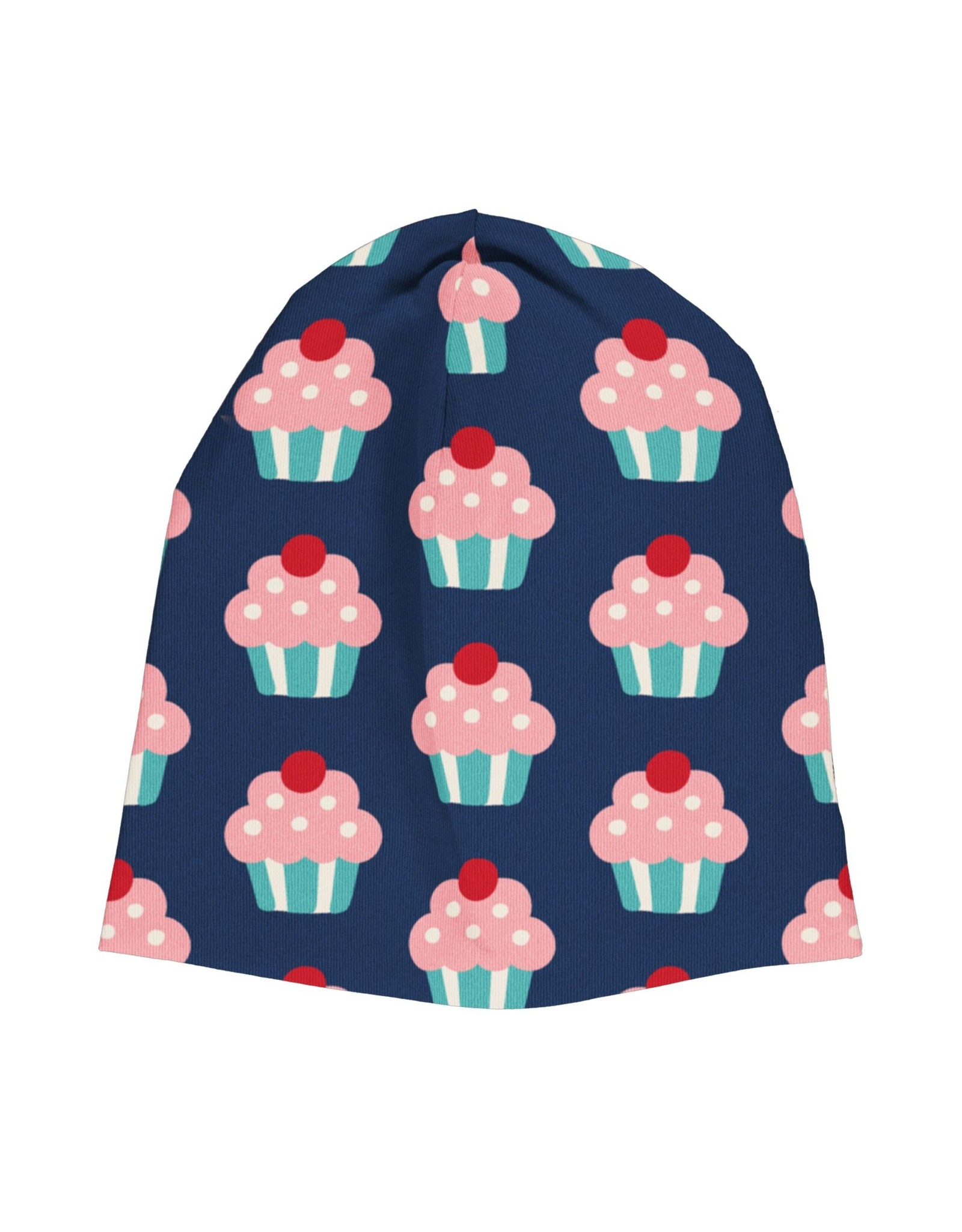 Maxomorra Muts (binnenkant velours) met cupcake print