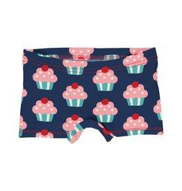 Maxomorra Meisjes boxer short met cupcake print
