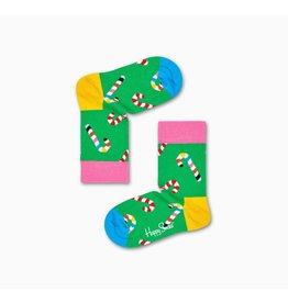 Happy Socks Kindersokken met kerst suikerstokken