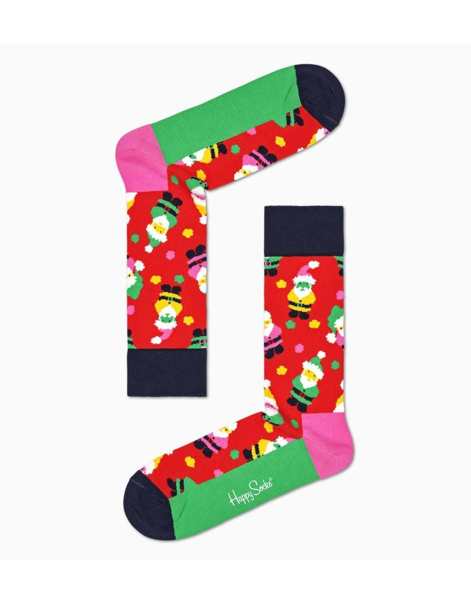 Happy Socks MAAT 36/40 + 41/46 - Sokken met kerstmannen