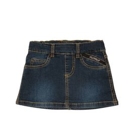 Villervalla Donkerblauw zacht jeans rokje