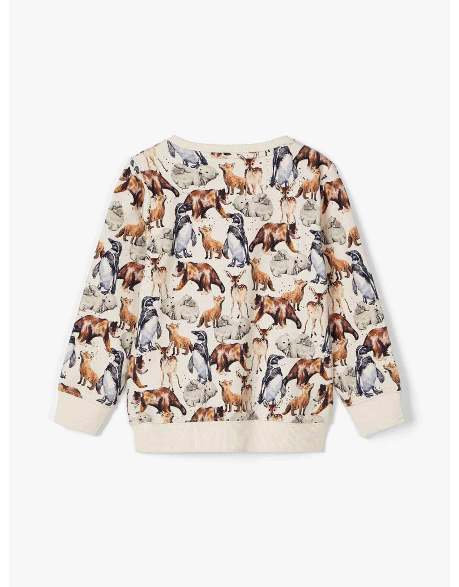 Name It Wilde dierenprint sweater - LAATSTE MAAT 92
