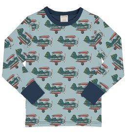 Maxomorra T-shirt met vliegtuigen print -  LAATSTE MAAT 122/128
