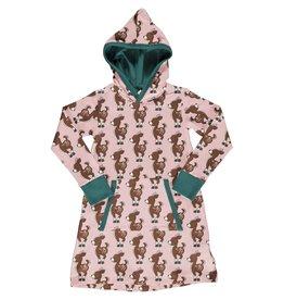 Maxomorra Hoodie sweater kleedje met hertjes