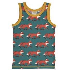 Maxomorra Mouwloze t-shirt met vossen