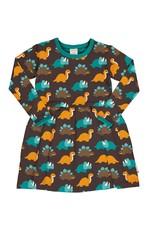 Maxomorra Zwier kleedje met zachtaardige dinosaurussen