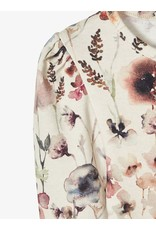 Name It Slim fit t-shirt met zachte bloemen print