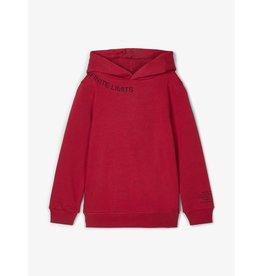 Name It Rode warme hoodie trui - LAATSTE MAAT 122/128