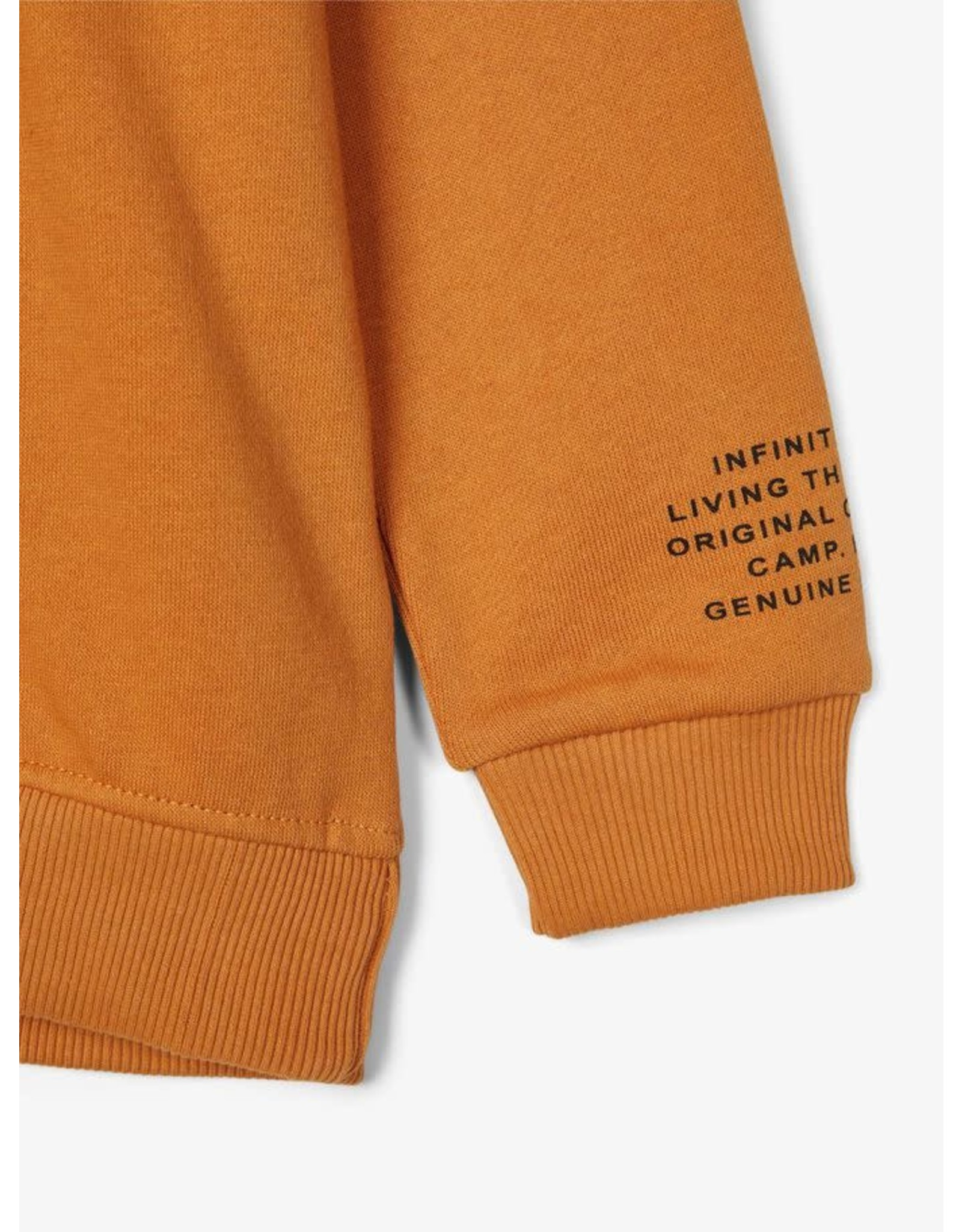 Name It Oker gele warme hoodie trui