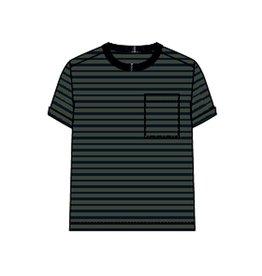Name It Groen-blauw gestreepte t-shirt uit bio katoen