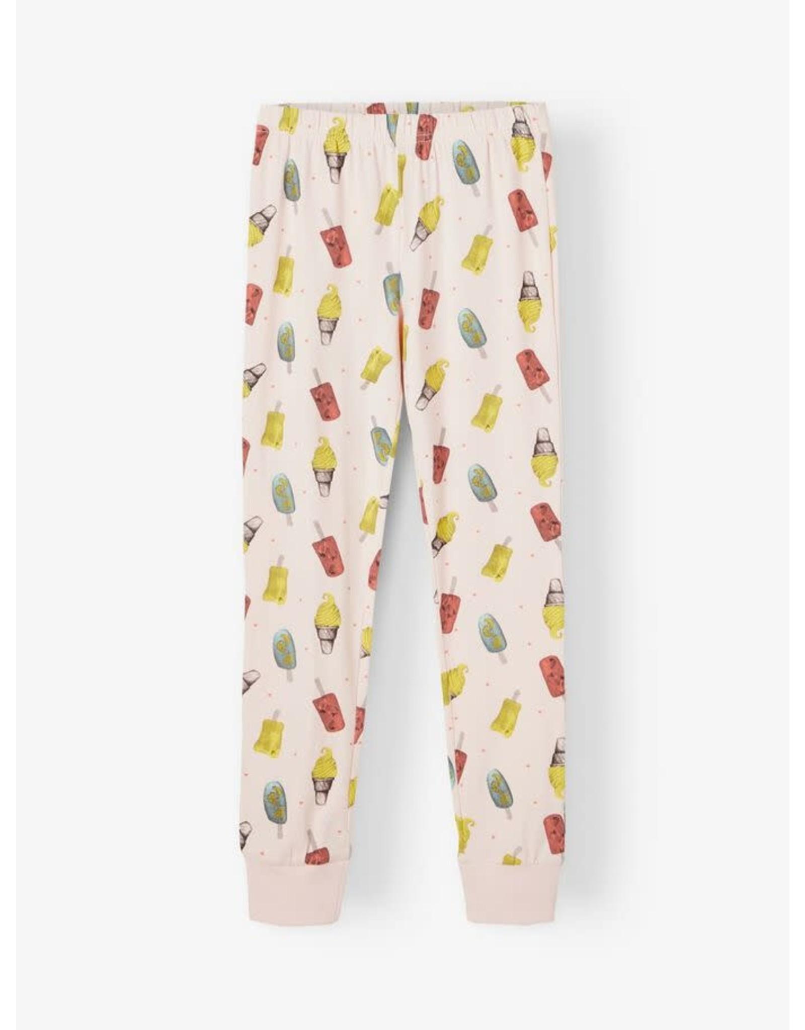 Name It Meisjes pyjama met ijsjes uit bio katoen - LAATSTE MAAT 86/92